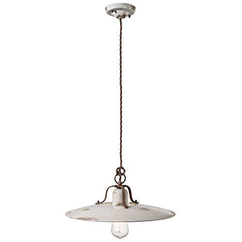 Suspension D.40 ferroluce Retro Country C1443 Vintage weiß