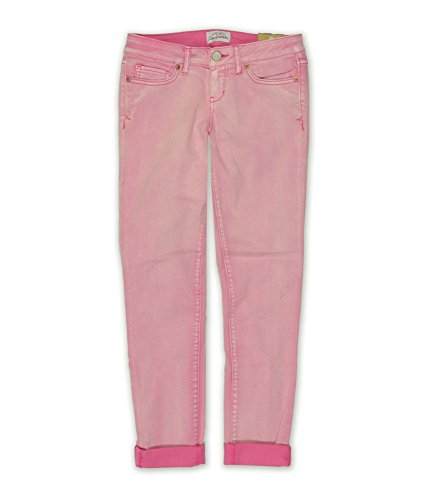 Aeropostale Womens Ashley Ultra-Low Skinny Fit Jeans, Pink, 13/14 Regular