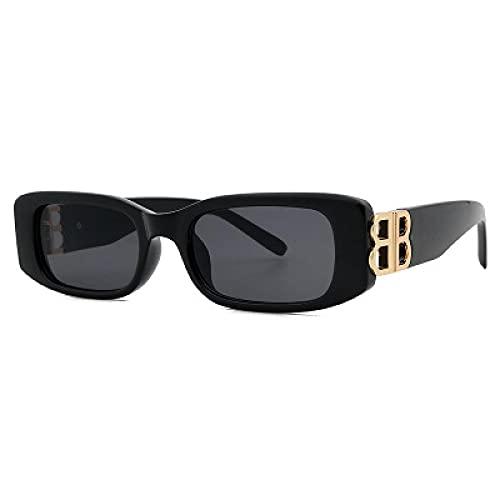Gafas De Sol Nuevas Gafas De Sol para Mujer Gafas De Sol Clásicas De Moda para Hombre Uv400 Gafas De Sol Rectangulares Retro Cuadradas Deportivas De Viaje Negro