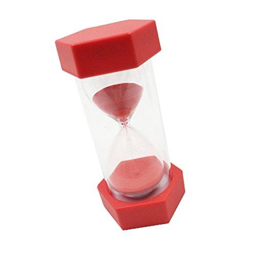 Schöne Sanduhr Sandglass für Hause/Büro Dekoration 1Minuten / 2 Minuten/ 3 Minuten /5 Minuten / 10 Minuten / 15 Minuten - rot, 15min