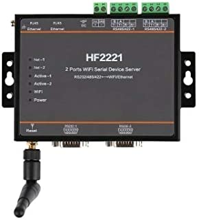 HF2221 2 Ports WiFi Serial Device Server RS232/RS422/RS485 to Ethernet/Wi-Fi Serial Server