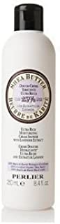 Perlier Shea Butter Ultra Rich Moisturizing Cream Shower with Lavender Extract with Certified Organic Shea Butter 8.4 Fl. Oz.