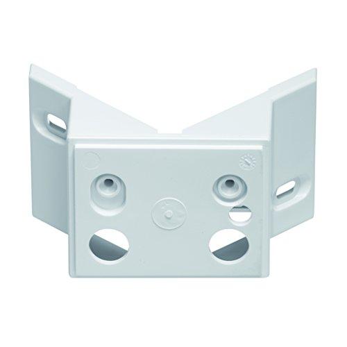 Steinel Eckwandhalter EWH 02 in weiß, Geeignet für Steinel Strahler LS 150, HS 150, HS-FE 150, Adapter für Hausecken