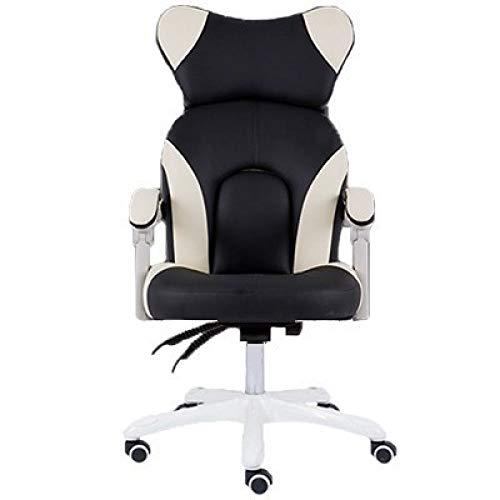 ZLAHY Silla E-Sports Office Boss Gaming Esport Poltrona Silla Gamer Chair Pink Cute Massage Twitter Live Footrest Ergonomics with Wheel, Black