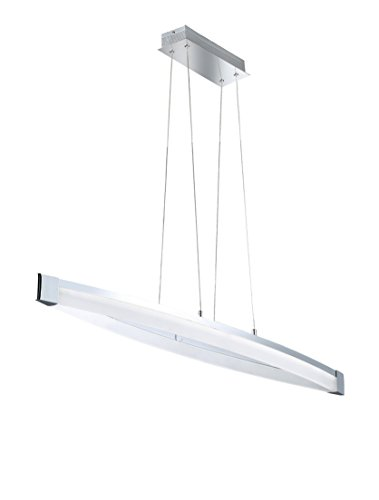 WOFI Pendelleuchte, 1-flammig, Serie Vannes, 1 x LED, 40 W, Breite 14.5 cm, Tiefe 127 cm, Abhängung
