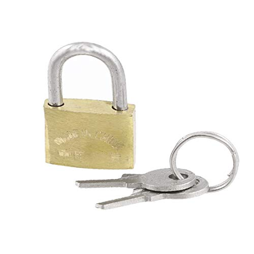 New Lon0167 Cabinet Jewlery Featured Box Brass 20mm Reliable Efficacy Width Padlock Gold Tone w Keys(id:58c 22 40 71d)