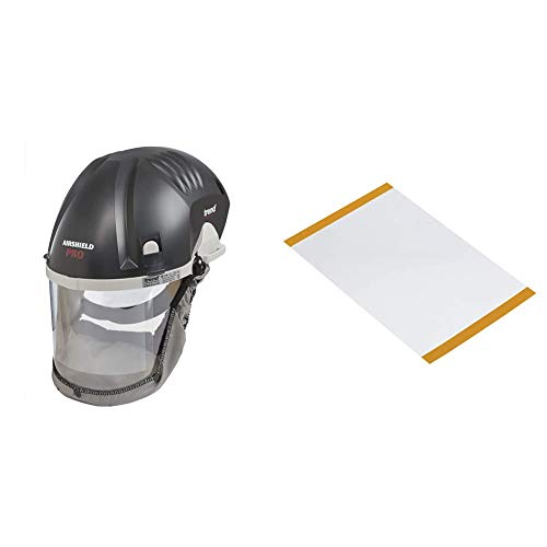 Trend AIR/PRO Airshield and Faceshield Dust Protector & AIRPRO AIR/P/3C Clear Replacement Visor Overlay, Pack of Ten