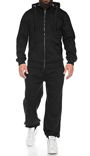 COOFANDY Men's Activewear Full Zip Warm Up Tracksuit Sports Set Casual Sweat Suit Comfy Sweatsuits Black, X-Large