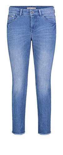MAC Jeans Damen Slim Fringe Straight Jeans, Blau (Light Blue Edgy Wash D245), W34/L27 (Herstellergröße: 34/27)