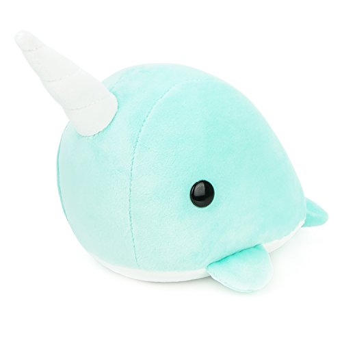 Bellzi Teal Narwhal Cute Stuffed Animal Plush Toy - Adorable Soft Whale Toy Plushies and Gifts - Perfect Present for Kids, Babies, Toddlers - Narrzi