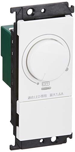 Panasonic コスモシリーズワイド21 LED埋込調光スイッチB(片切)ホワイト WT57511W