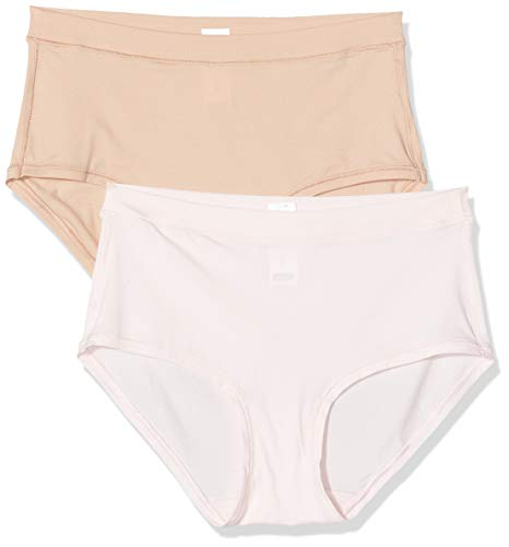 Dim Shorty Body MOUV X2 Culotte, Multicolore (Rose Ballerine/New Skin 8yb), 44 (Pack de 2) para Mujer