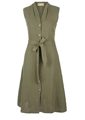 s.Oliver Damen Hemdkleid Kleid, 7810 Khaki/Oliv, M
