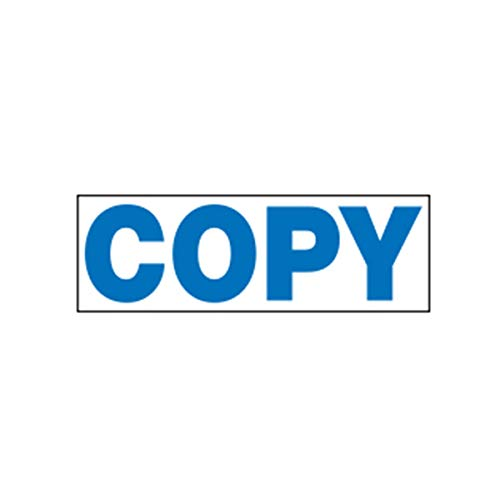 Stamp-Ever Pre-Inked Message Stamp, Copy, Stamp Impression Size: 9/16 x 1-11/16 Inches, Blue (5945) Photo #2