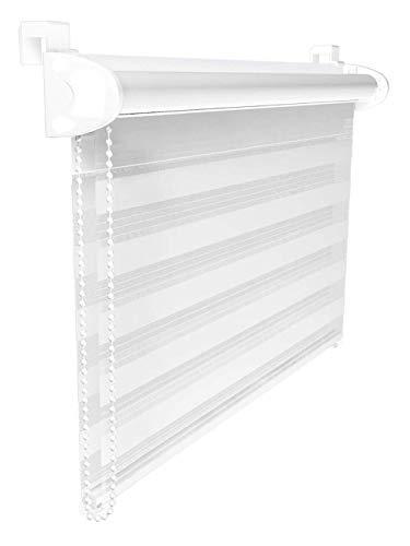 Collani 120 x 150 cm Duo Rollo Klemmfix ohne Bohren Creme Weiß Doppelrollo Sonnenschutz Klemm Fix Seitenzugrollo …