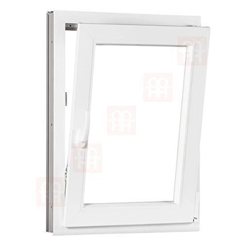 Kunststofffenster | 80 x 120 cm (800 x 1200 mm) | weiß | Dreh-Kipp-Fenster | rechts
