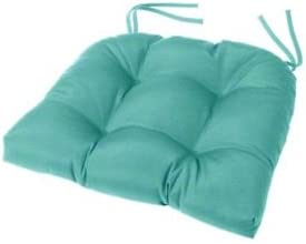 Amazon Com Cushion Source Tufted Chair Cushion 18 X 16 X 4 Chair Pad Indoor Outdoor Sunbrella Aruba 5416 0000 Home Kitchen