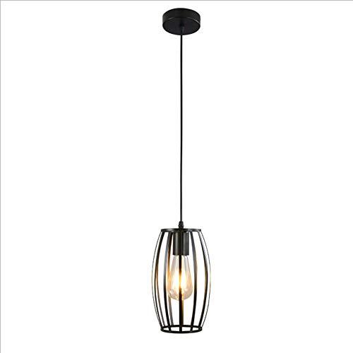 Yjdr Eisen Retro Lampe, einfache kreative Restaurant Kronleuchter Cafe Bar-Lampe Retro Industrie Eisen Lampe Droplight for Halle Restaurant Bar Lighting