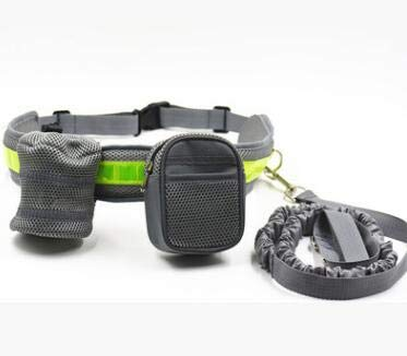 Ponacat Pet Sports Kit,Hands Free Dog Lead Strap Rope,Colorful Nylon Elastic No Slip Waist Belt For Walking Running with Large and Medium Dog
