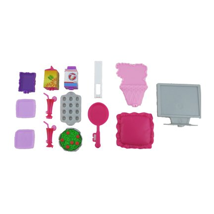 Replacement Parts for Barbie Glam Vacation House - X7945 Barbie Doll Size Accessories ~ TV, Kitchen Supplies, Pillow, Flowers and More