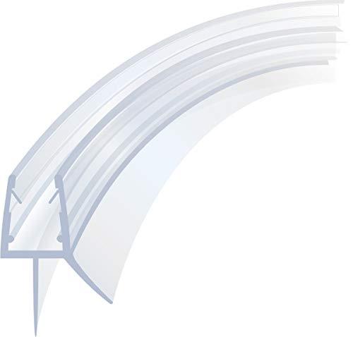 Duschdichtung Runddusche Schwallschutz Streifdichtung Ersatzdichtung Wasserabweiser Viertelkreis gebogen 170 cm für 4-8 mm Glasstärke