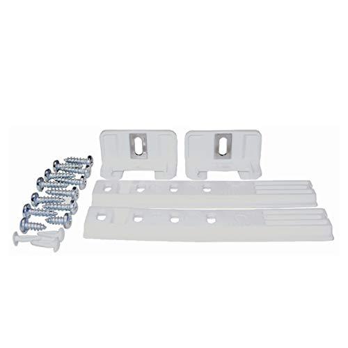 2x Liebherr 9086322 ORIGINAL Scharnier Schlepptür Gleitschiene Schiene Tür Montageset mit Schrauben universal für Kühlschrank oder Gefrierschrank auch für viele andere Marken