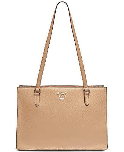 DKNY Whitney Center Zip Leather Tote (Latte)