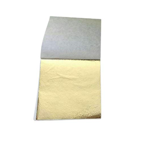 Party Paper Decorations 100 Pcs 8.5X9Cm Art Craft Imitation Gold Sliver Copper Foil Papers Leaf Leaves Sheets Gilding DIY Craft Decor Design Paper