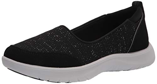 Clarks womens Adella Blush Sneaker, Black Textile, 8.5 Narrow US