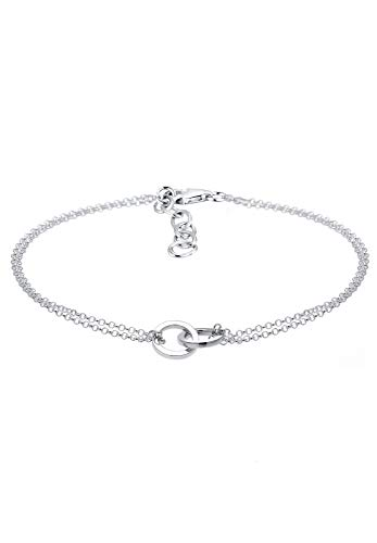 Elli Armband Damen Kreis Verbundenheit im Geo Trend in 925 Sterling Silber rosé vergoldet