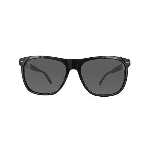 Ermenegildo Zegna Sonnenbrille EZ0041-F Occhiali da Sole, Nero (Schwarz), 57.0 Uomo