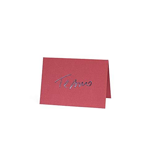 Cartão Mini Fabriano Te Amo Vermelho, Teca, Ge0020, Vermelho