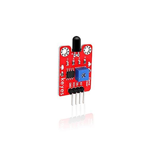 Módulo electrónico Módulo Detector del Sensor De Detección De LM393 4 Pin IR Y Fuego De Infrarrojos Módulo Receptor For A-r-d-u-i-n-o Kit De Bricolaje