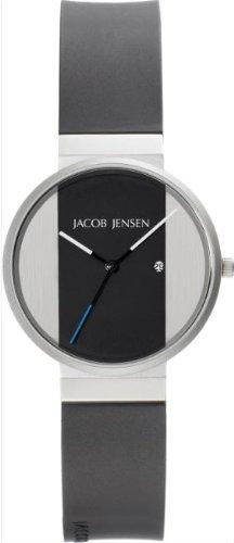 JACOB JENSEN Unisex-Armbanduhr JACOB JENSEN NEW SERIES ITEM NO. 712 Analog Quarz Kautschuk JACOB JENSEN NEW SERIES ITEM NO. 712