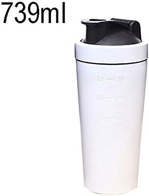 プロ品質 ドリンクウェアフラスコトラベルマグサーモスカップ739ml(25oz)ヘルシースポーツカップステンレススチールプロテインパウダー 一杯のコーヒーとお茶 (色 : 白)