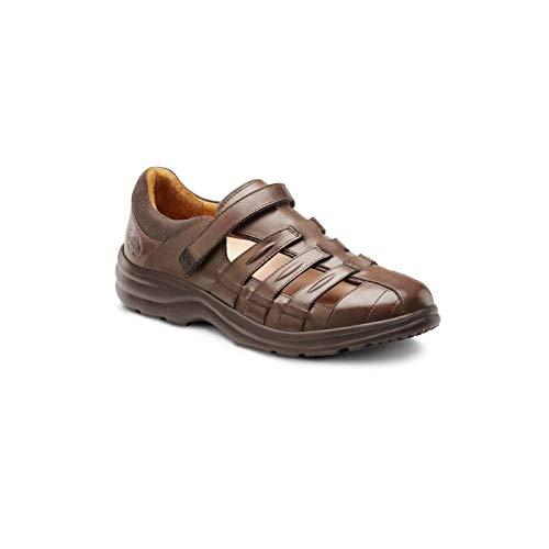Dr. Comfort Women's Breeze Diabetic Fisherman Style Sandal: Coffee 9 Wide (C/D)