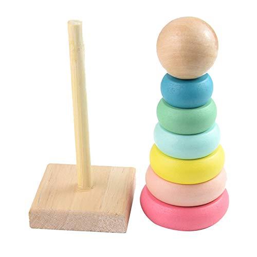 HomeDecTime Toy Rainbow Stacker Juguetes de Desarrollo de Educación Temprana