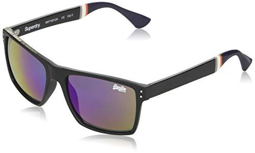 Superdry Mens Yakima Sunglasses, Matte Black/Triple Fade Revo, One Size