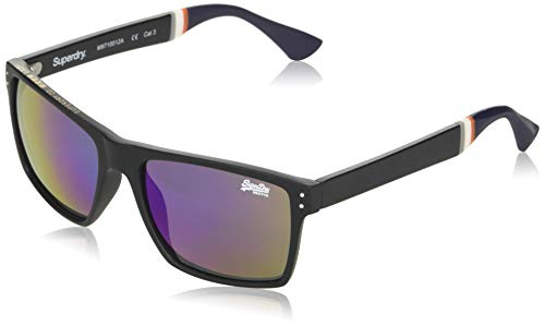 Superdry Mens Yakima Sunglasses, Matte Black/Triple Fade Revo, One Size