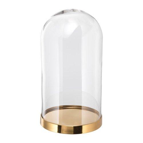 Unbekannt IKEA BEGAVNING Glasglocke mit Teller; (26cm)