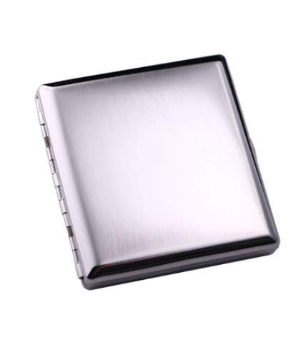 XIAOXIA Caja De Cigarrillos Caja De Cigarrillo Simple De Metal Cepillado De Metal De Cobre Ultrafino 20 Paquete De Cigarrillo Masculino Y Femenino