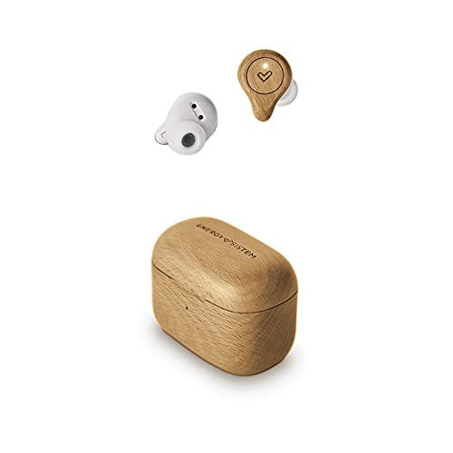 Energy Sistem Earphones Eco True Wireless Beech Wood Auriculares (Madera Sostenible, Carga inalámbrica, Diseño Compacto, True Wireless, USB Tipo C)- Haya