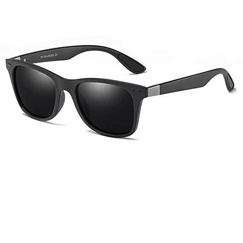 Gafas de sol polarizadas Hombre Mujer/Deportes Gafas reflectantes con verano Deportes al aire libre Conducción Pesca Montañismo Gafas de sol Hombres (Color negro)