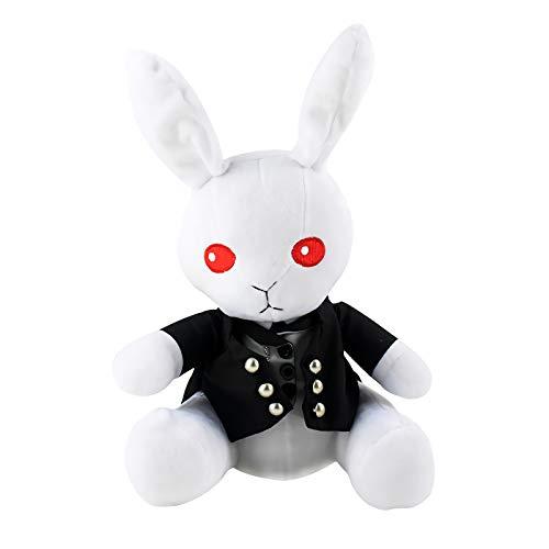 JackDuck Black Butler Plush Doll Anime Rabbit Stuffed Animal Bunny Figure Toy (Black)