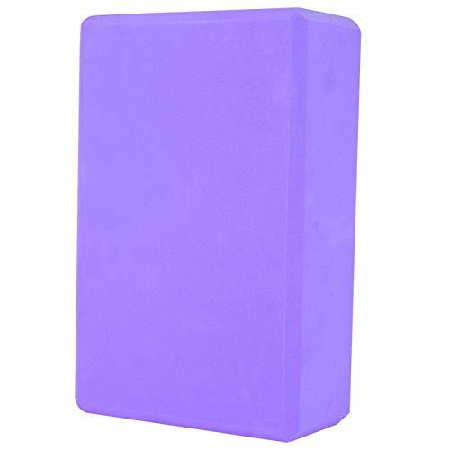Gind Bloques de Espuma de Yoga no tóxicos, ladrillo de Espuma de Yoga Antideslizante, Herramienta de Fitness EVA para Ejercicios de Estiramiento en casa(Purple)