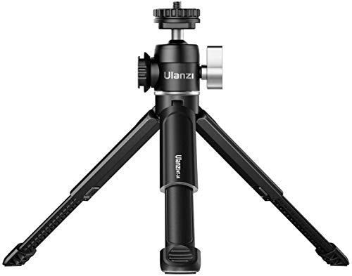 Ulanzi U-Vlog Lite Vlog Tripod,Ball Head Mount + Extend Mini Tripod for Canon G7X Mark III M6 Mark II Sony RX100 VII A6400 A6100 A6600 Compact Cameras Mounting Microphone Vlogging
