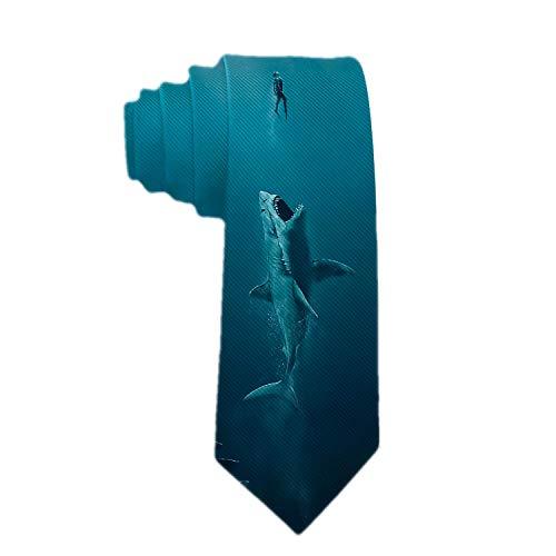 Corbatas de ataque de tiburón para hombre Corbata de seda Traje formal de fiesta Corbatas de regalo únicas