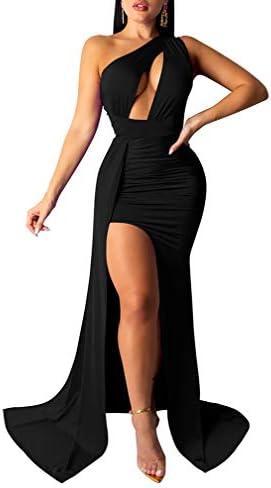 Long black dress with split