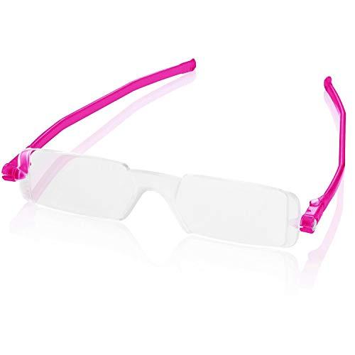 Reading Glasses Nannini Italy Vision Care Unisex Ultra Thin Fuchsia 2.5