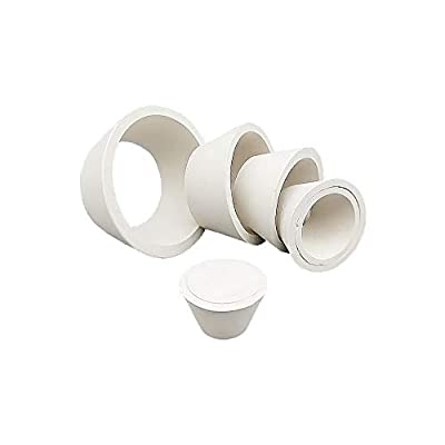 LabZhang 9 Count Buchner Funnel Flask Adapter Set,Filter Adapter Cones Set,Tapered Collar White 9 Sizes,9pcs from LabZhang